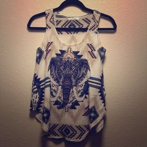 Gage Tank Top with Elephant Small